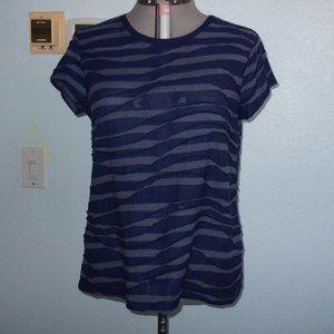 Vera Wang Size XL Purple 3D Blouse Shirt Summer